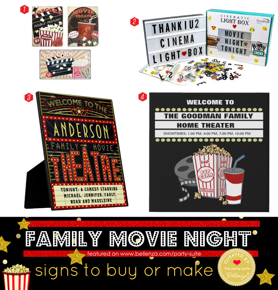Family Movie Night Signs to Buy