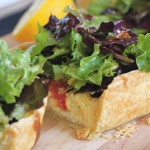 Parmesan tart with Caesar salad topping by Five and Spice