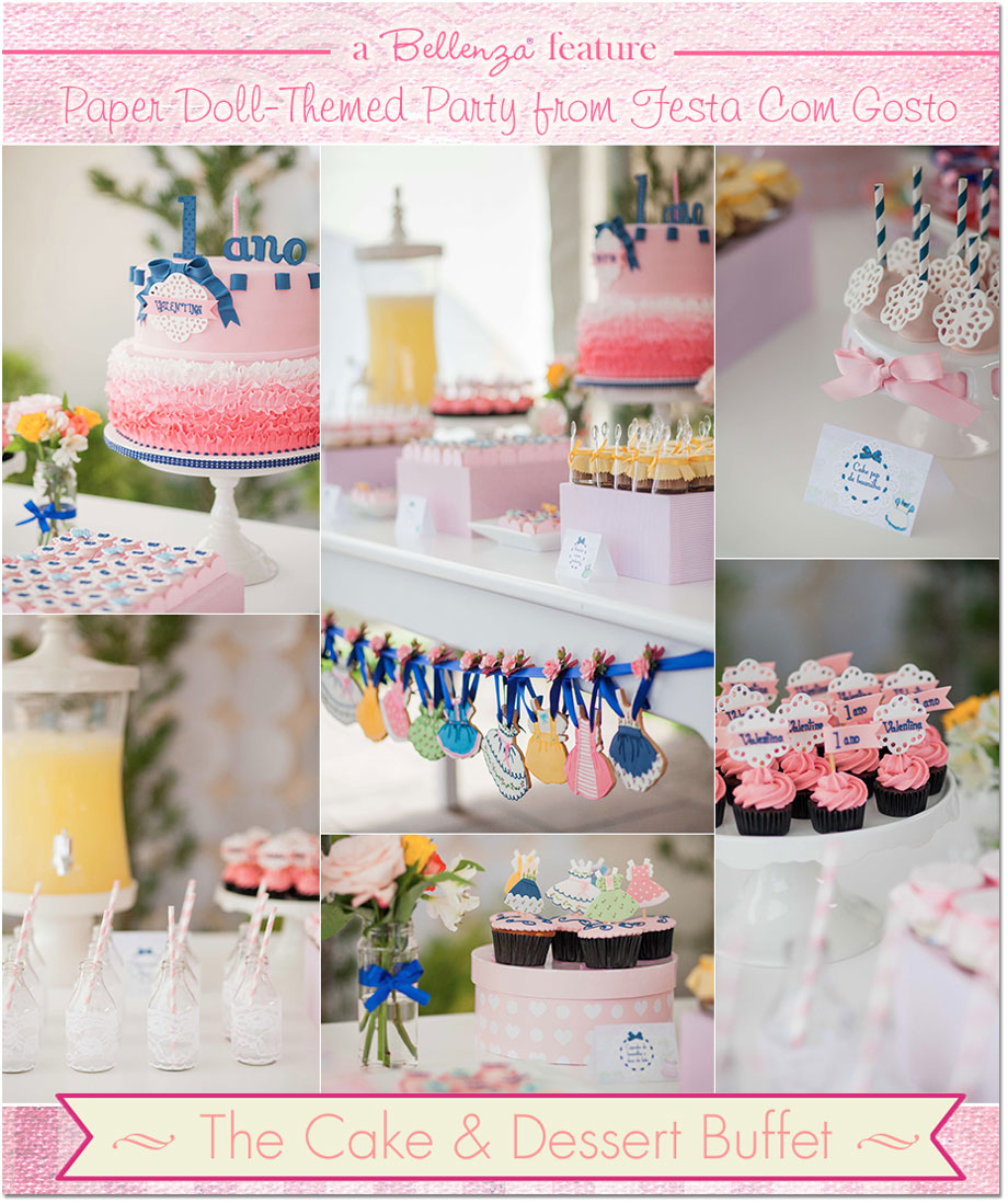 Cake table from Festa Com Gosto