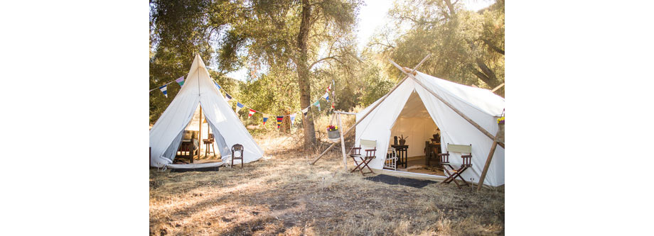Camping Theme via Under Canvas Events