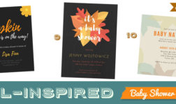 Canva Fall Baby Shower Invitations