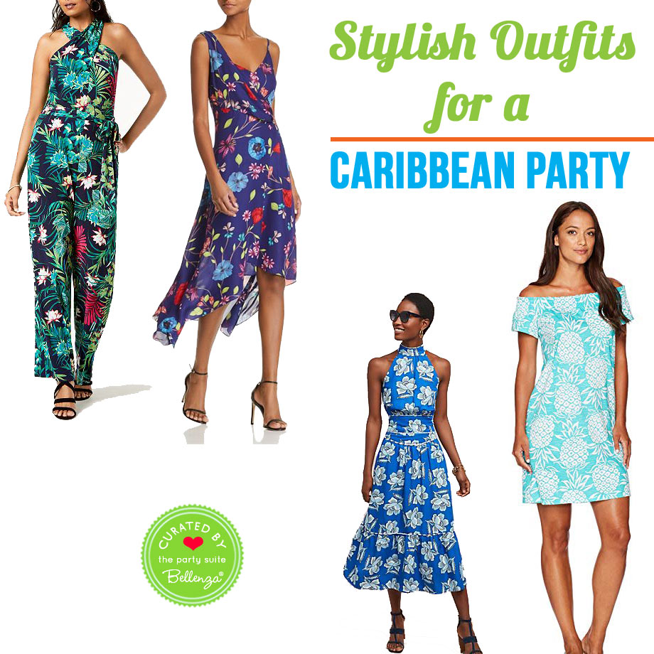 Caribbean Party Attire for Ladies in Fresh Colors from Dresses to Halters to Jumpsuits!