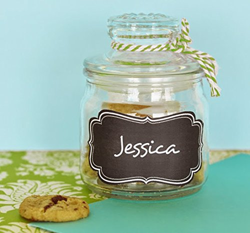 #13 Mini Cookie Jars with Vinyl Chalkboard Labels from Eventblossom via Amazon