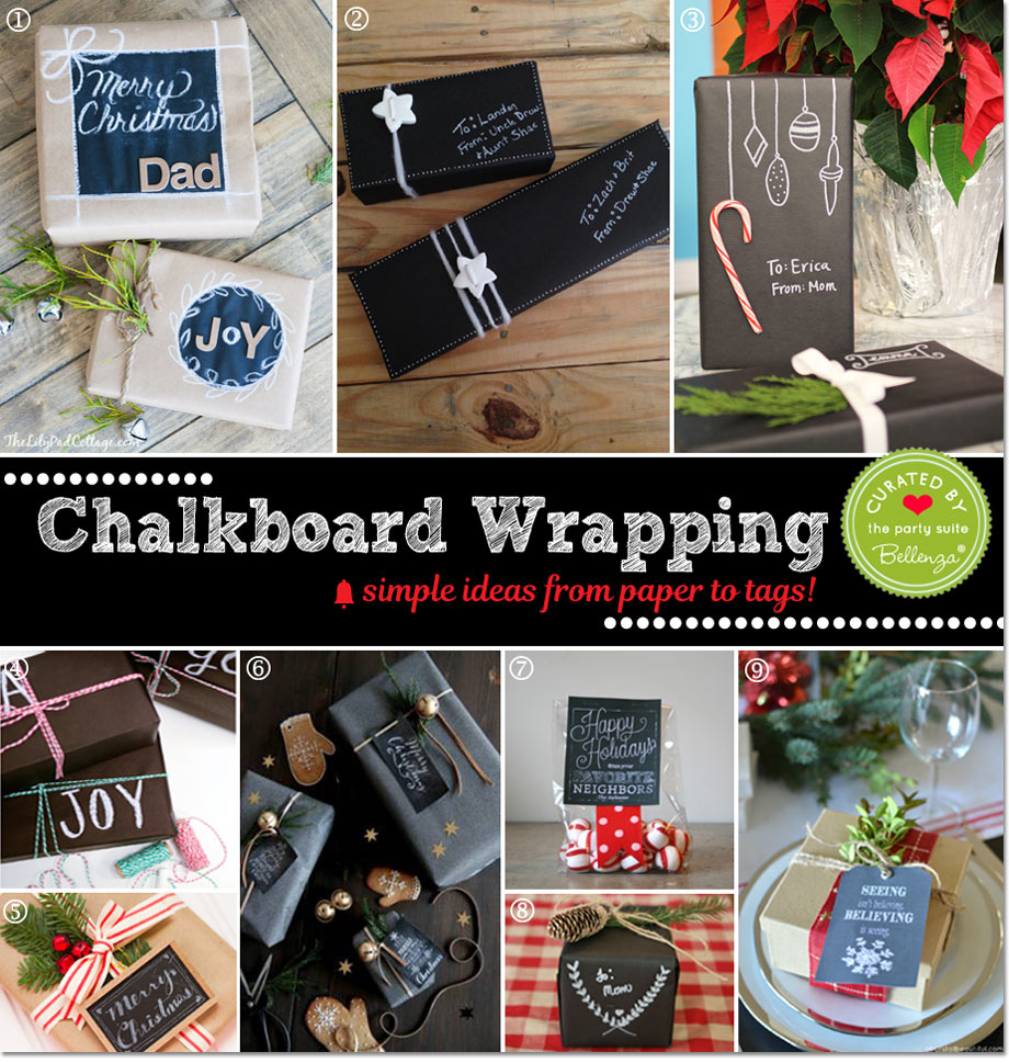 Chalkboard Wrapping Paper and Tags: Creative Ways to Wrap!