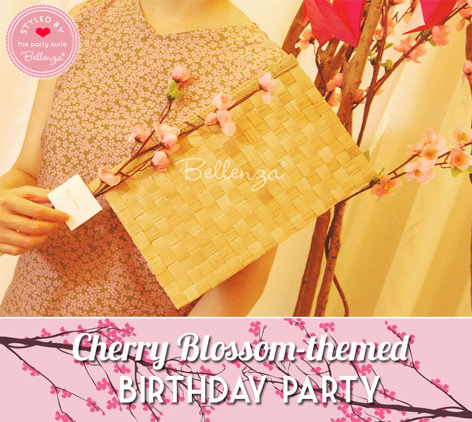 Bamboo fan handmade for Cherry Blossom birthday