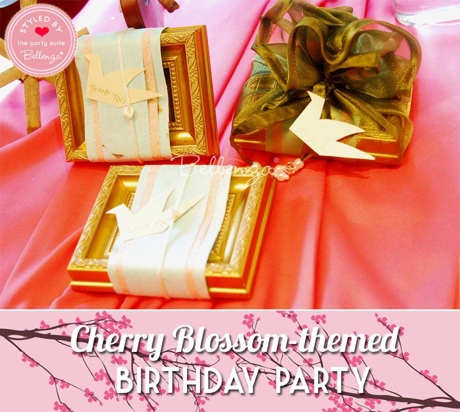 Gold frames for Cherry Blossom birthday
