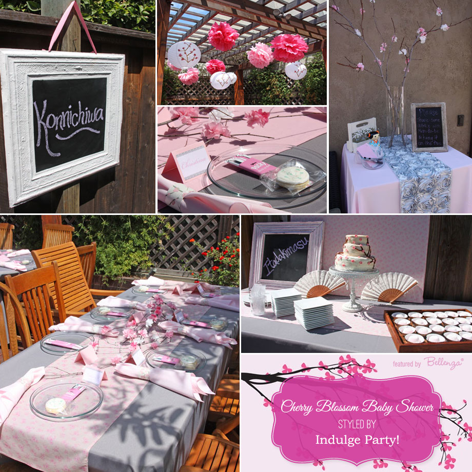 A beautiful cherry blossom themed baby shower styled by Sandi over at Indulge Party