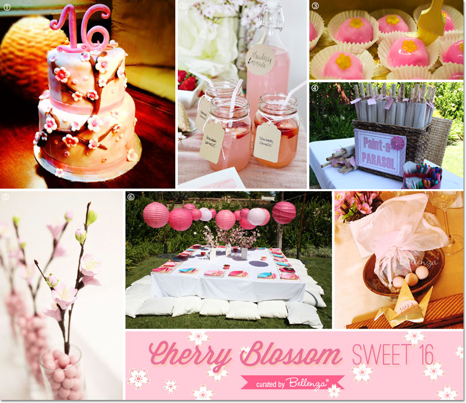 How to host a cherry blossom sweet 16 party in your backyard // curated by Bellenza.