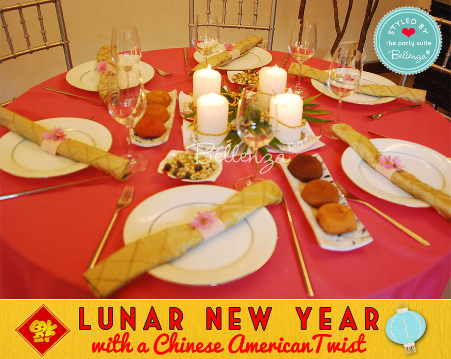 Table centerpieces and decorations for Lunar New Year in Red