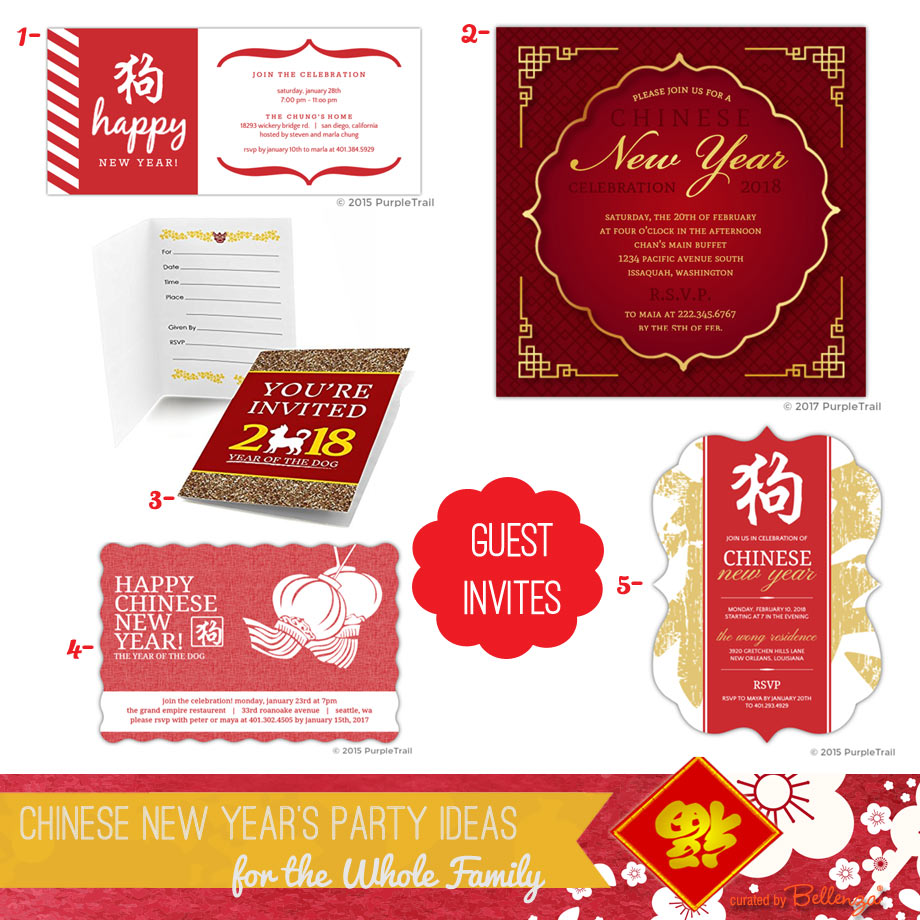 Chinese New Year Guest Invitations