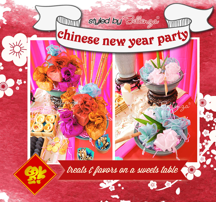 Chinese New Year Decorations and Favors by Bellenza.