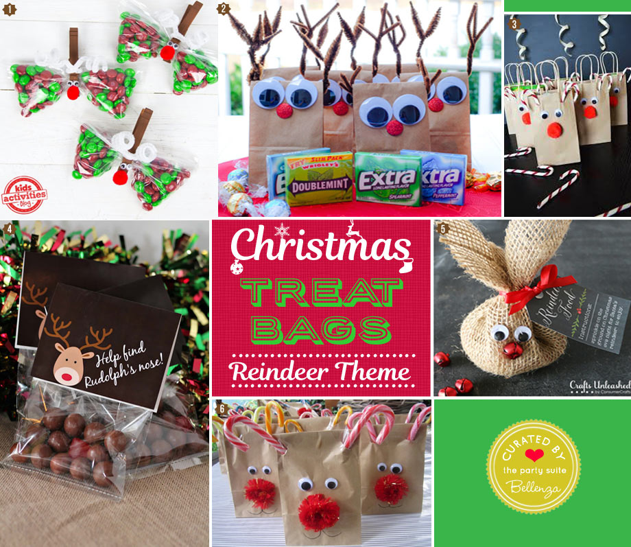 Christmas DIY Reindeer candy treat and goody bags for kids