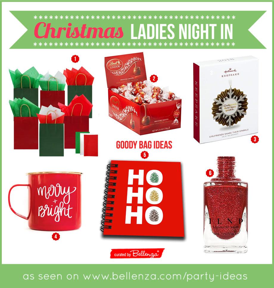 Christmas Ladies Night In Goody Bag Ideas