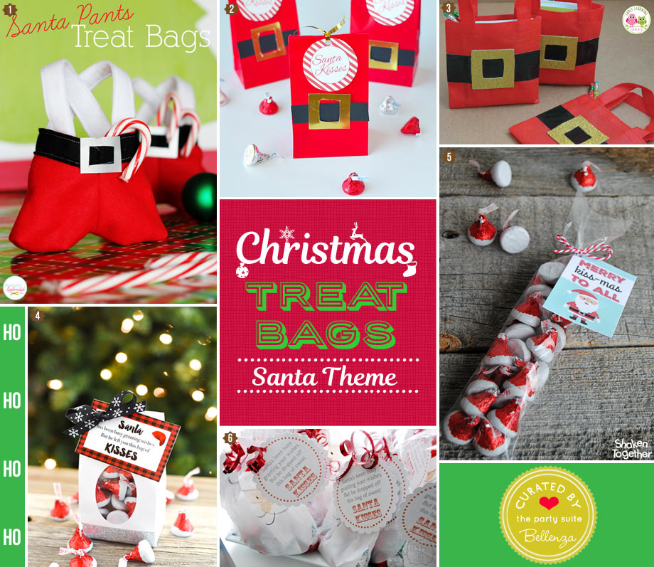 DIY Christmas Santa goody bags for kids
