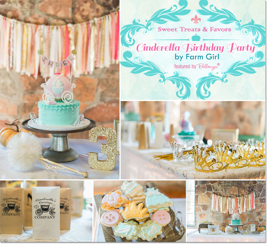 A Cinderella Birthday Party Favors and Food by Farm Girl! | as featured on the Party Suite at Bellenza.