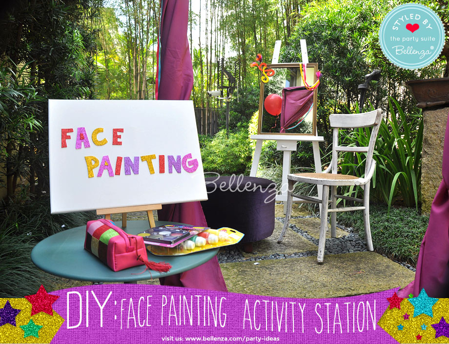 face painting station signage