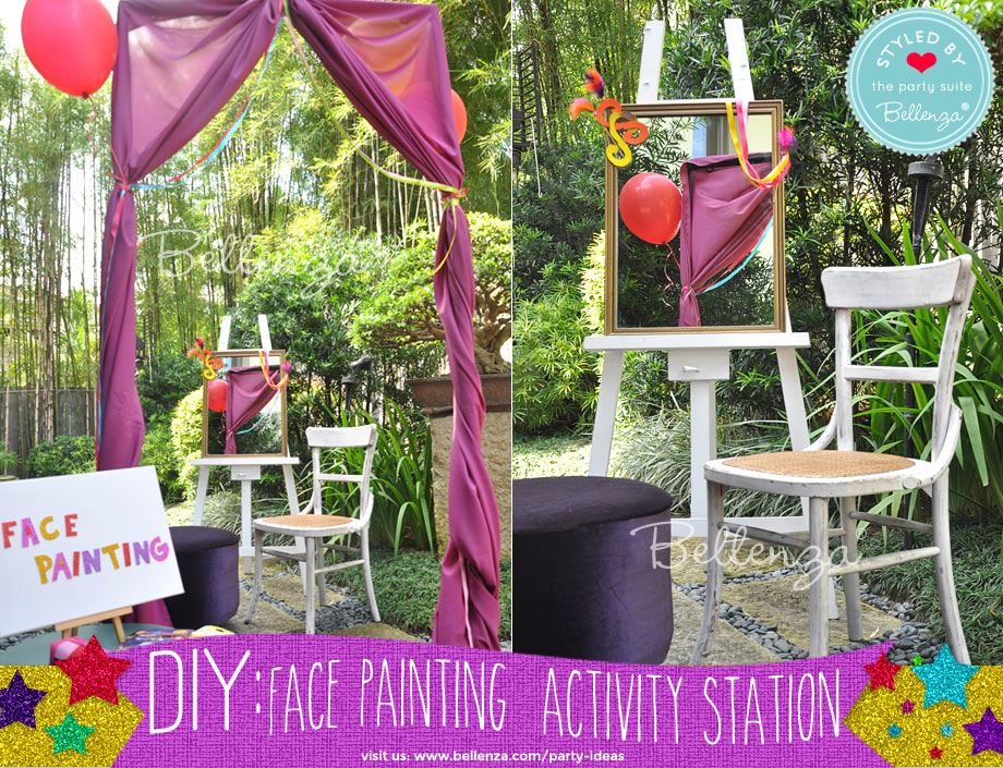 how to make your own face painting station