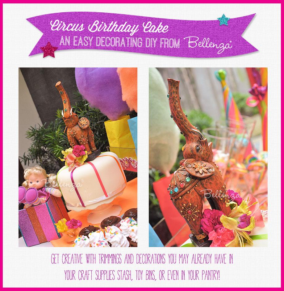 A Circus-themed Birthday Cake You Can DIY!