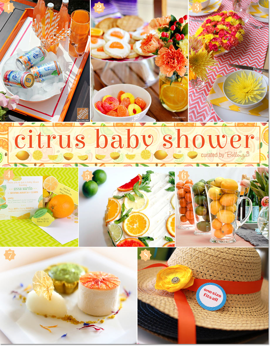 A Citrus-themed Baby Shower.  Zesty Decor and Menu Ideas!