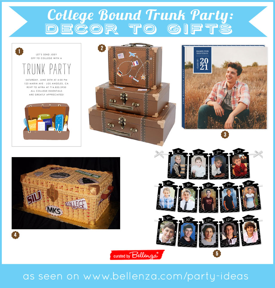Easy College Trunk Party Decor Elements for Son
