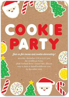 Cookie Party Themed Invitations via Tiny Prints