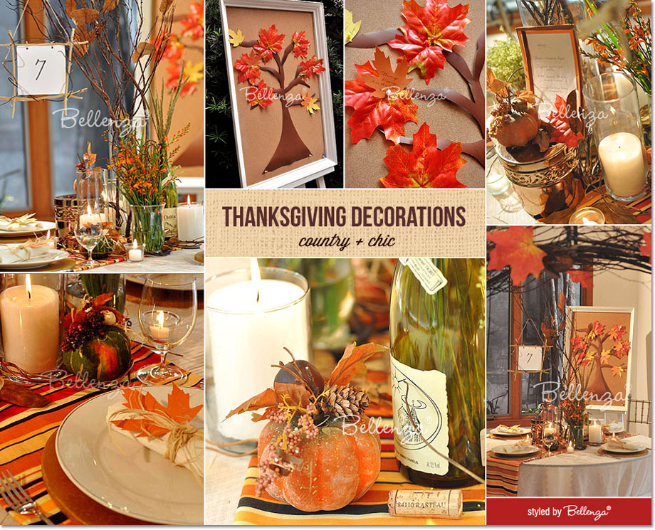 Country Chic Thanksgiving inspiration from Bellenza