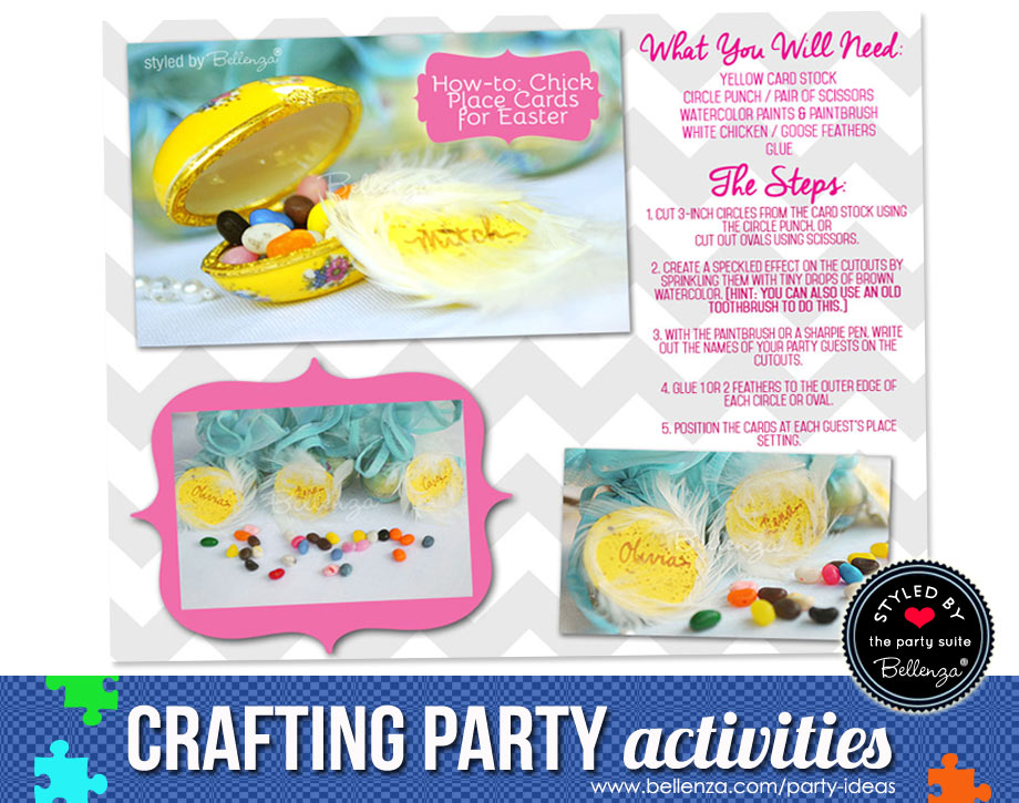 Easter party crafting activity