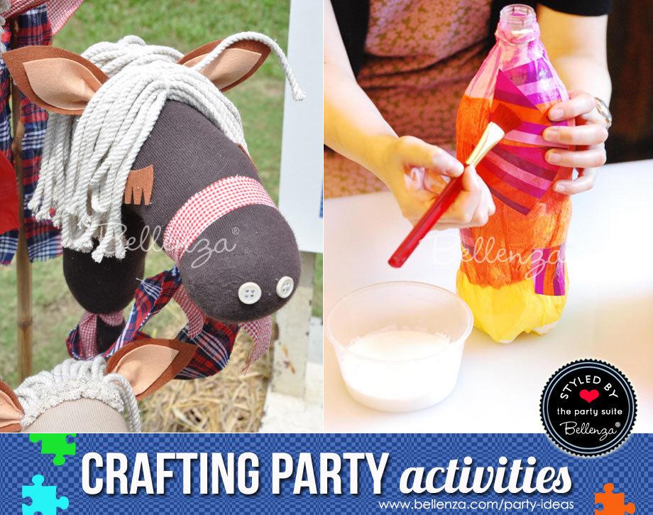 Make stick horses or paint vases
