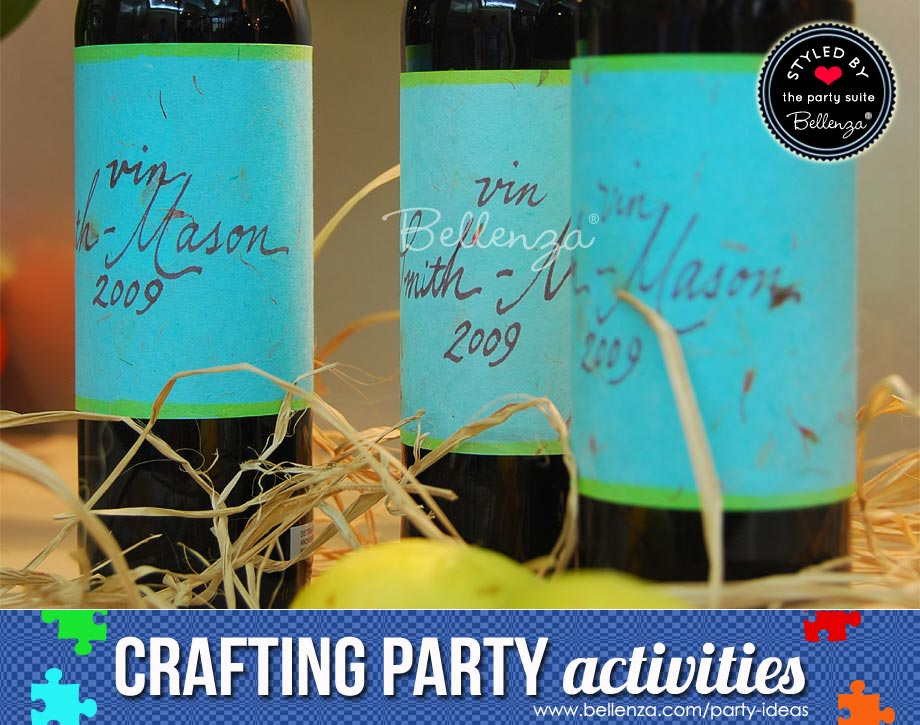 Wine labels to make at home