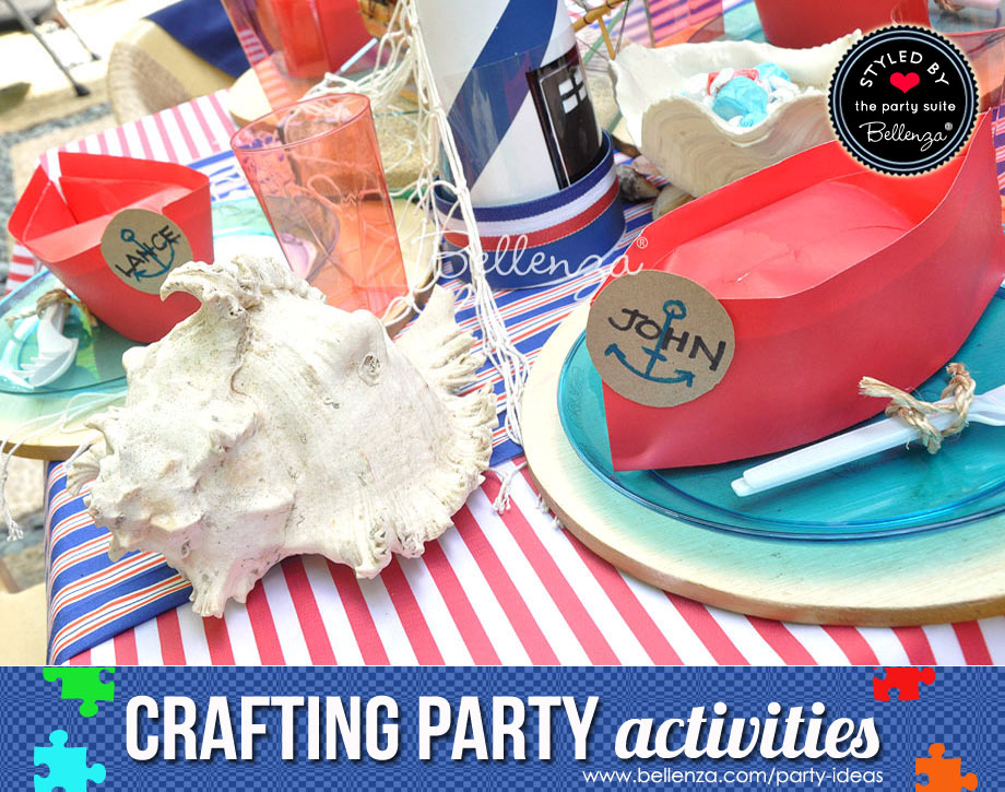 Make paper sails for a nautical birthday.