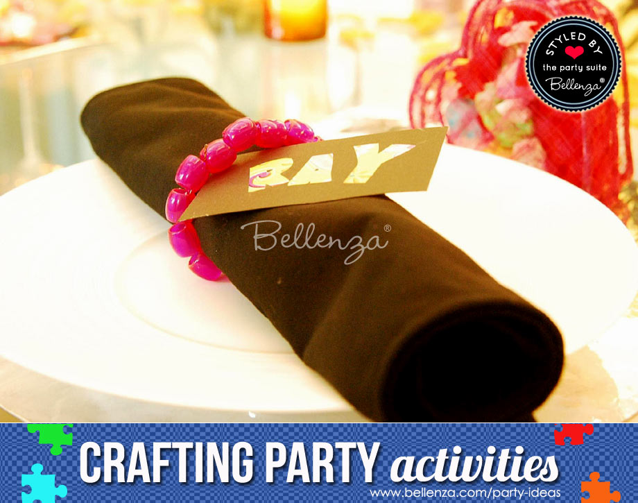 Create beaded bracelets or napkin rings.