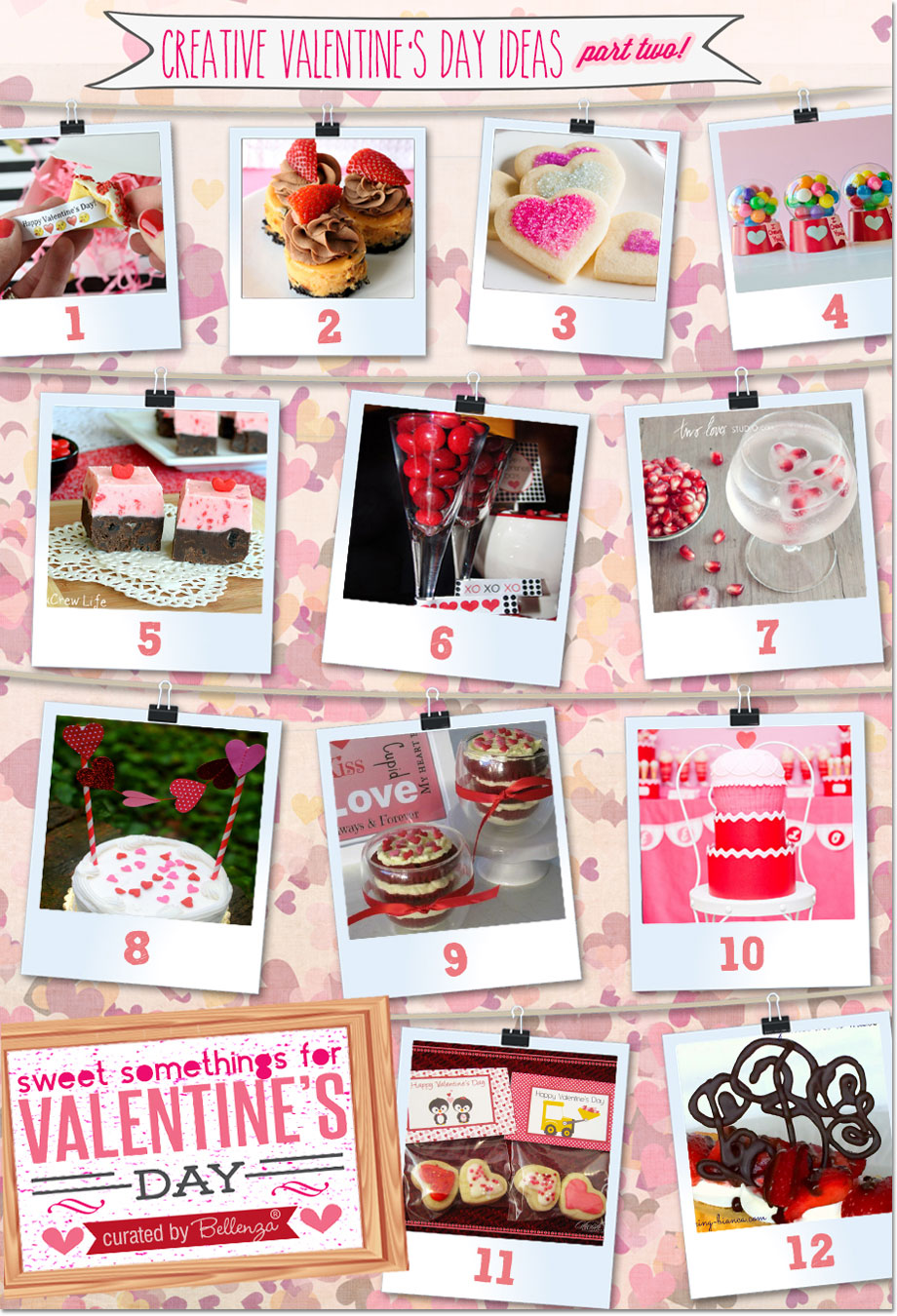 A special post from Bellenza featuring 24 Creative Valentine's Sweets and Favors.