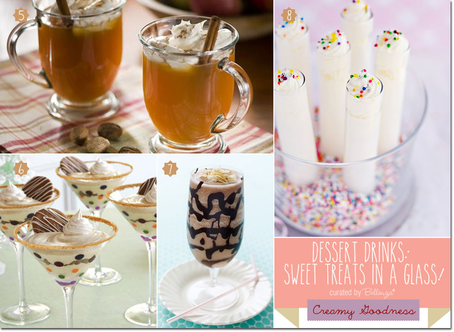 Creamy Dessert Drinks from Apple Pie Cocktails to Eggnog Parfaits to Birthday Cake Shots