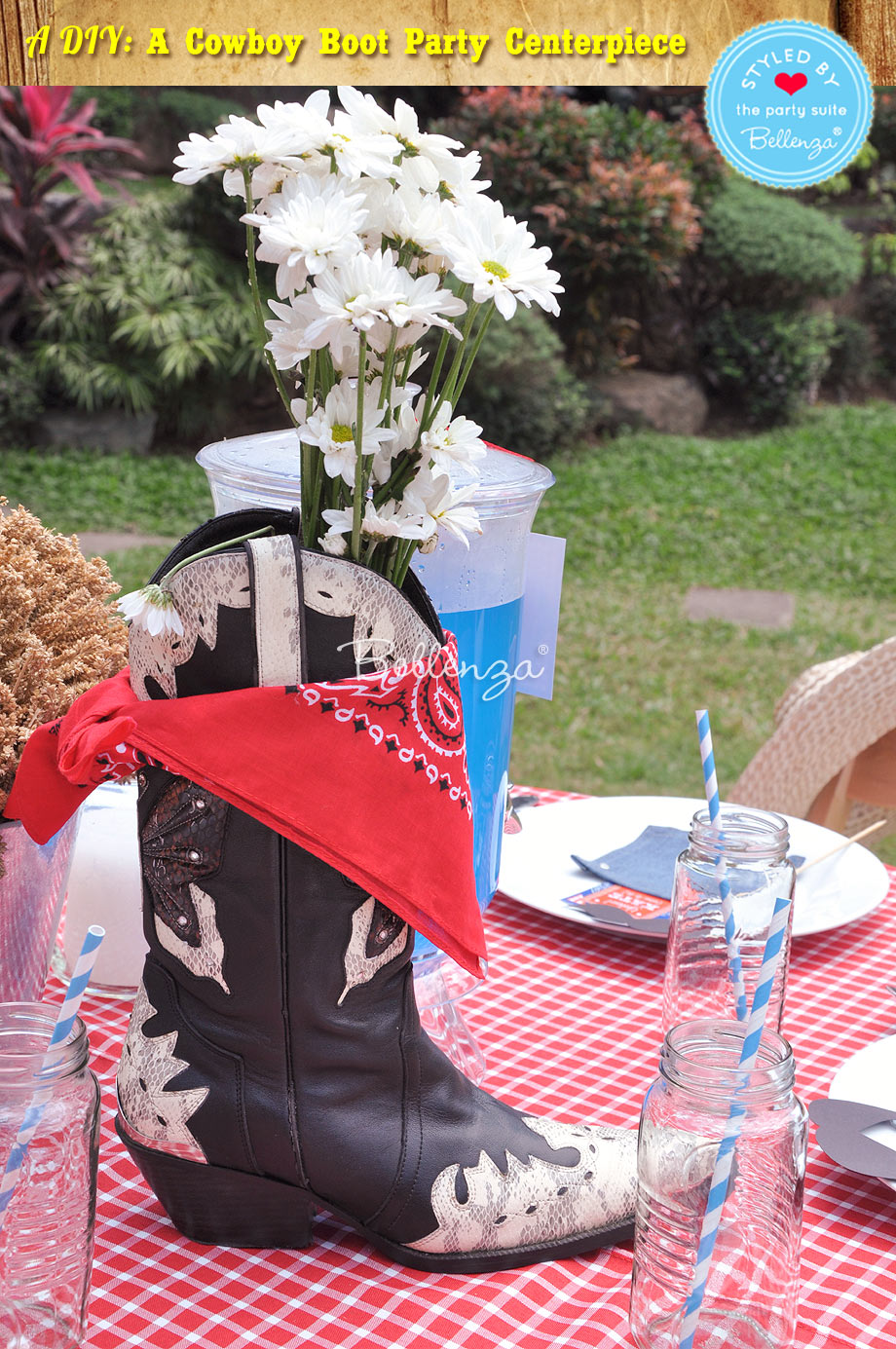 Cowboy Boot Party Centerpiece in Just 5 Steps!