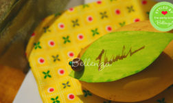 DIY or homemade tropical party and table decorations.
