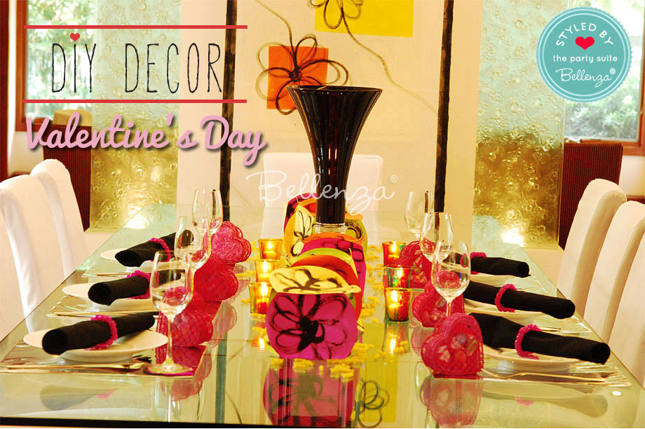 Black and red with fuchsia table accents.