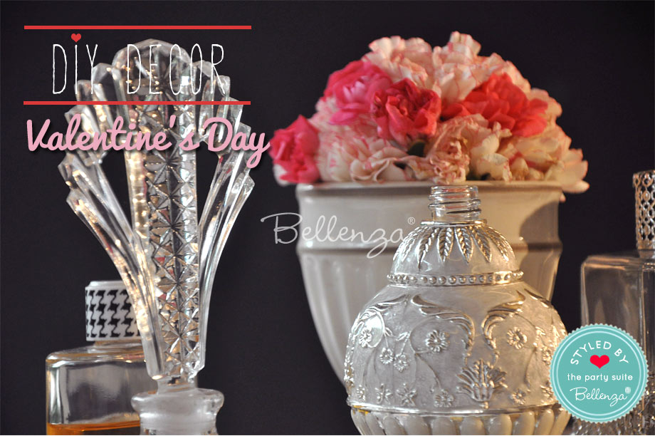 Antique perfume bottles lend a hand as vintage table decor accents.