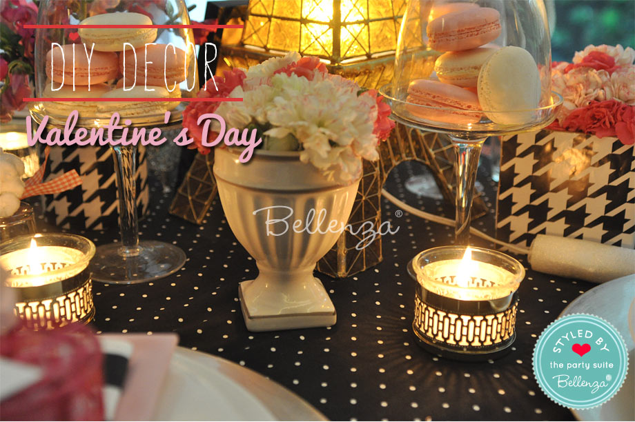 Parisian accents for a Valentine's tablescape