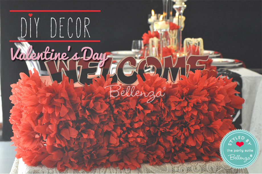 Homemade Welcome Valentine's Party Signage
