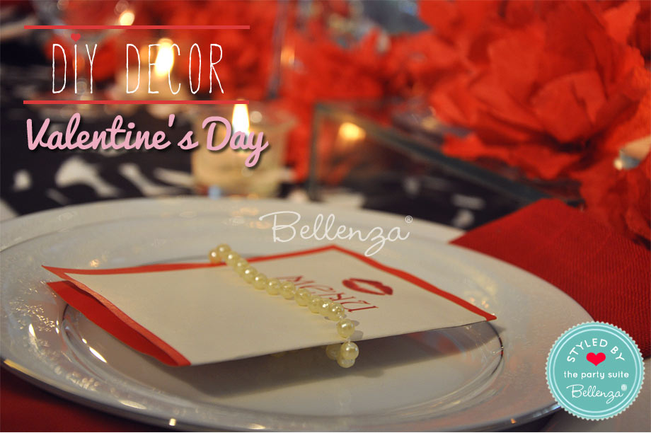 Valentine's kiss menu with a pearl strand.