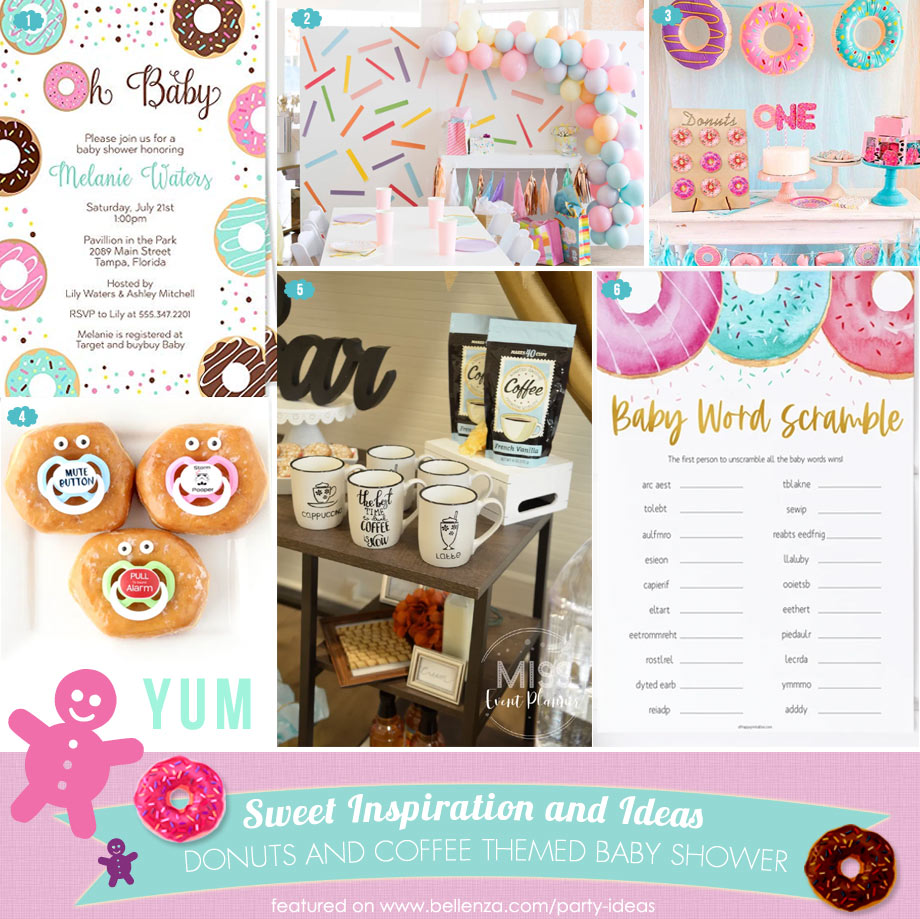Donuts and coffee themed baby shower