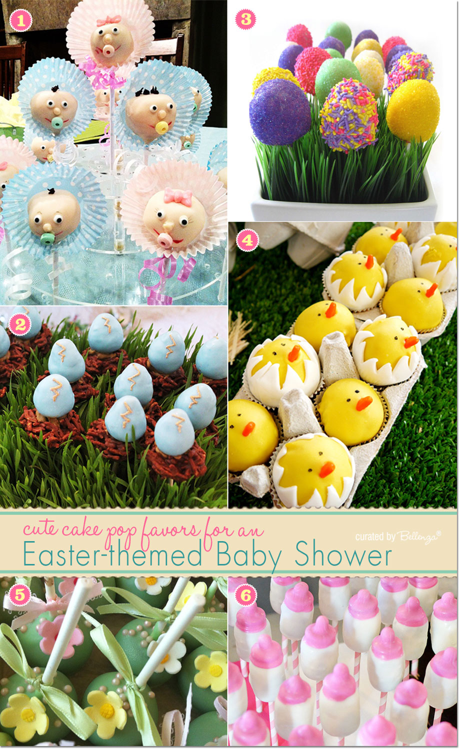 Easter cake pops for baby shower from fun chicks to colorful egg shaped cake pops