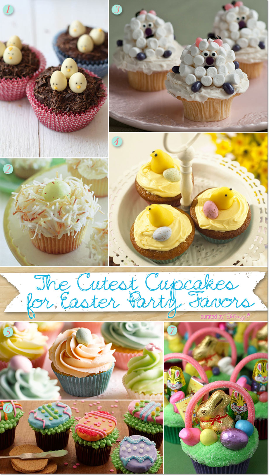 Fun Easter Cupcakes for Kids with Chicks, Eggs, and Bunnies.
