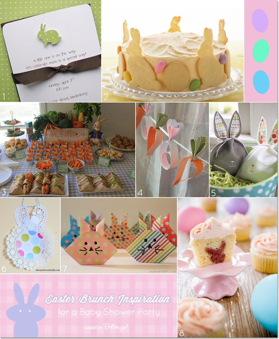 Easter Brunch Inspiration for a Springtime Baby Shower