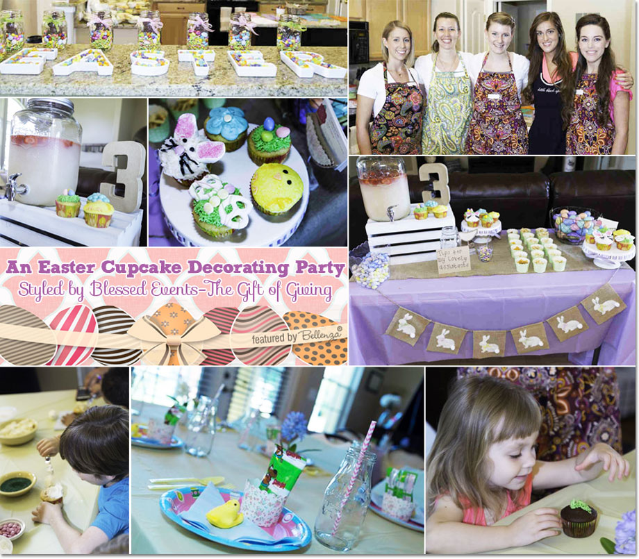 An Easter Cupcake Decorating Party. Styled by Blessed Events-The Gift of Giving