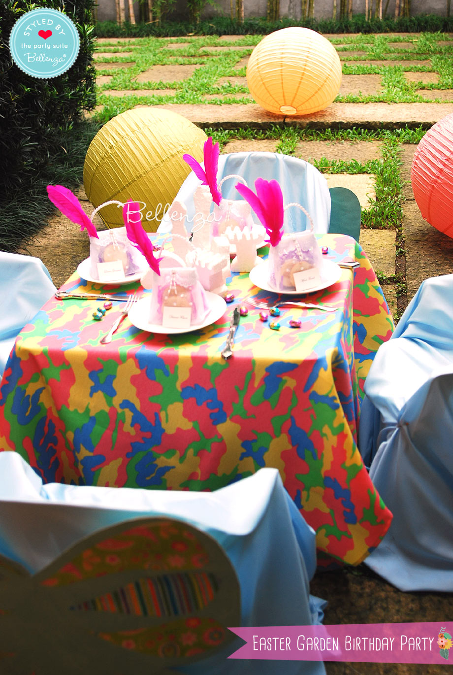 Easter backyard birthday party decorations