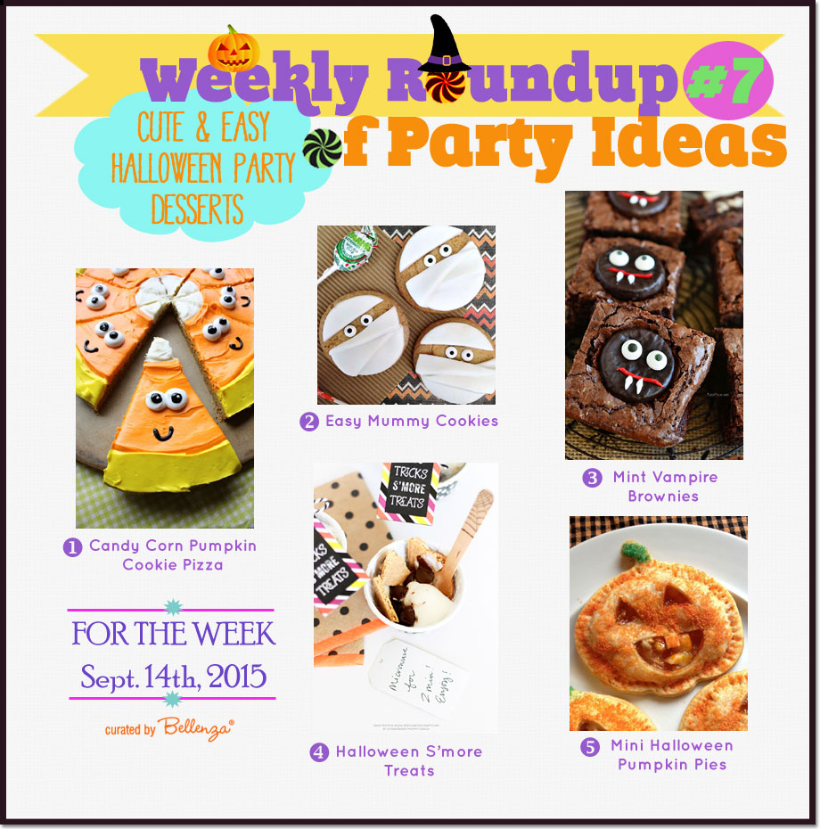 Cute and Easy Halloween Party Desserts & Treats #cutehalloweentreats