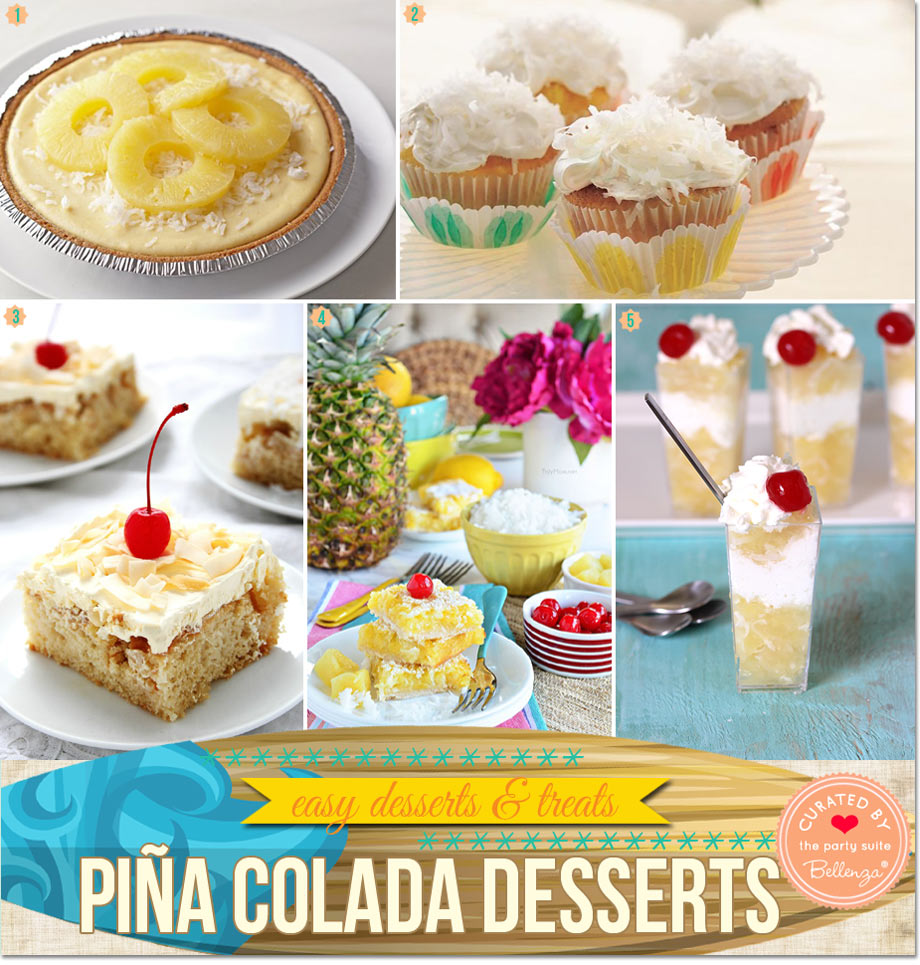 Easy Pina Colada Desserts to Make for Summer | Finds featured on Party Suite at Bellenza
