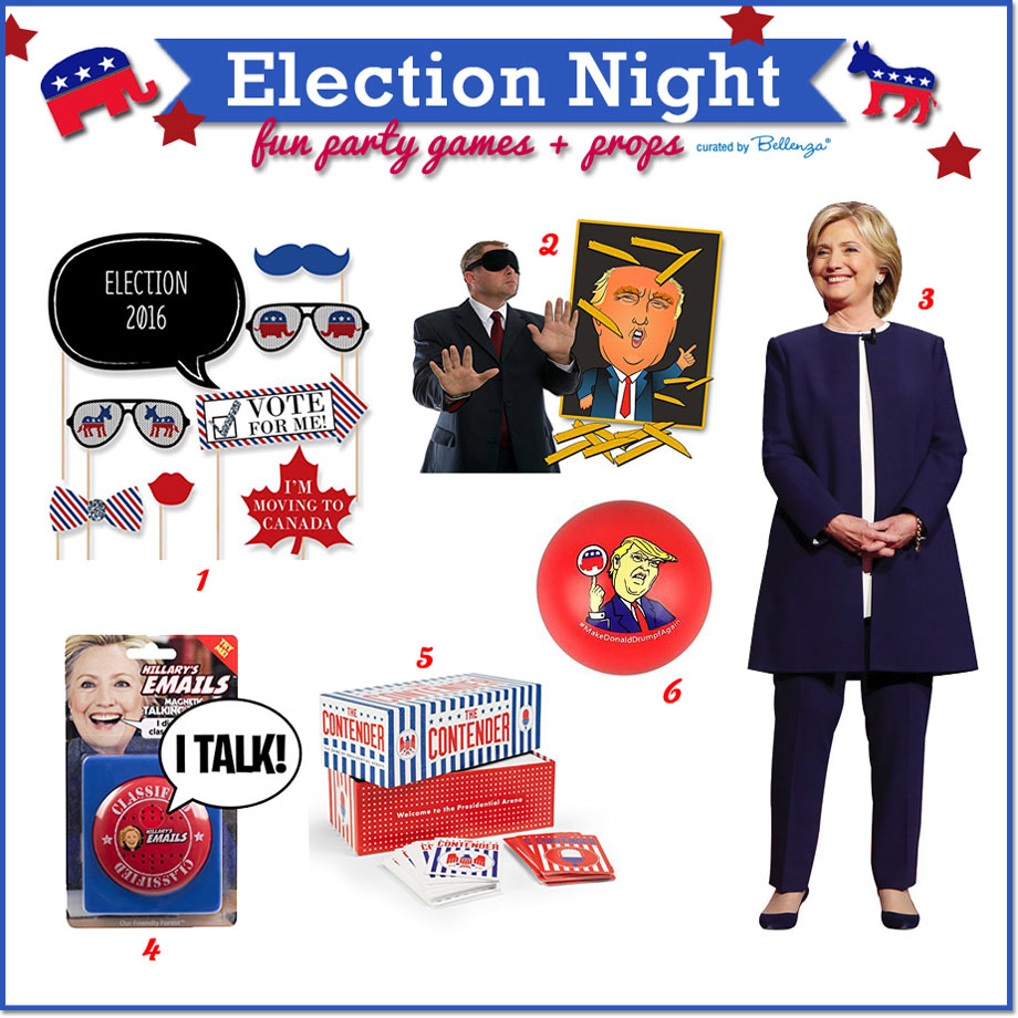 Fun Party Games and Props for an Election Night Party