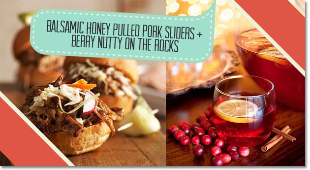 Honey Pulled Pork Slidersand Berry Nutty